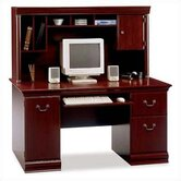 Birmingham  60&quot; W Cherry Executive Desk with Hutch