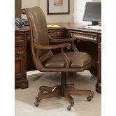 High-Back Swivel Office Chair with Arms