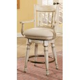 Summerglen Swivel Counter Stool in White