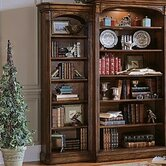 Brookhaven Left Hand Bookcase in Medium Clear Cherry