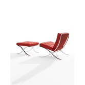Barcelona&reg; Lounge Chair and Optional Stool