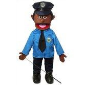 25&quot; African American Policeman Full Body Puppet