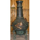 Gatsby Style Chiminea with Gas Kit and Cover