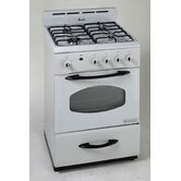 24&quot; Gas Range, White