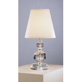 Venus and Juno Accent Lamp in Lead Crystal