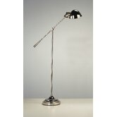 Alvin Boom Floor Lamp in Polished Nickel