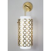 Jonathan Adler Parker Pendant Wall Sconce in Antique Brass