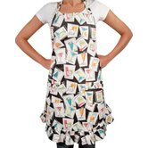Happy Hours Ruffle Adult Apron
