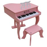 Fancy Baby Grand Piano in Pink