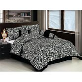 Classic 7 Piece Zebra Print Comforter Set