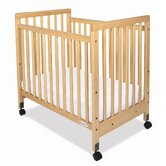 SafetyCraft Compact Size Slatted Crib in Natural