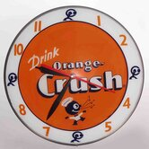 Double Bubble Orange Crush Glass Clock