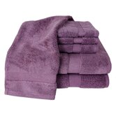 100% Supima Zero-Twist Cotton 6-Piece Towel Set in Amethyst