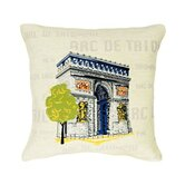 Arc de Triomphe Pop Tapestry Pillow