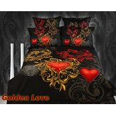 Golden Love Egyptian Cotton Duvet Cover Set