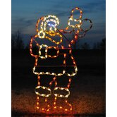 Animated Waving Santa Light