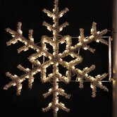 "36"" Pole Decoration Garland Snowflake in Warm White"