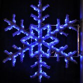 "36"" Pole Decoration Garland Snowflake in Blue"