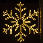"36"" Pole Decoration Six Point Snowflake in Warm White"