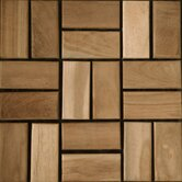 "Teak 12"" x 12"" Interlocking Mosaic Deck Tiles"