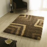 Nordic Tides Brown Shag Rug/Runner