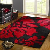 Decotex Matisse Black / Red Contemporary Rug