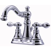 Victorian Series Centerset Bathroom Faucet with Double Handles
