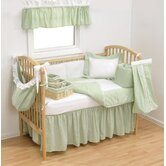 Gingham Seersucker Crib Bedding Collection in Sage Green