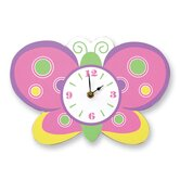 Baby Butterfly Purple Wall Clock