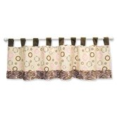 Sweet Safari Pink Window Valance