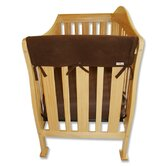 "2 Pack of 27"" Brown Fleece Side Crib Rail Cover"