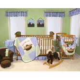 Noah's Ark Green and Blue Crib Bedding Collection