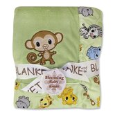 Chibi Zoo Monkey Framed Receiving Blanket