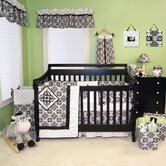 Versailles Crib Bedding Set in Black and White