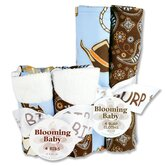 Cowboy Bouquet Bib and Burp Cloth Set