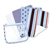 Max Zip Pouch Burp Cloth Set in Blue (Set of 4)