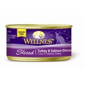 Sliced Turkey and Salmon Dinner with Gravy Canned Cat Food (3-oz, case of 24)