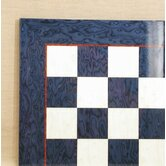 "17"" Briar Chess Board in Blue / Ivory Glossy"
