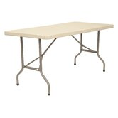 60&quot; x 30&quot; Blow-Molded Folding Table