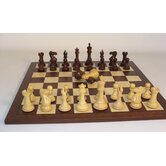 Rosewood Stallion Knight Double Queen Dark Rosewood Chess Board