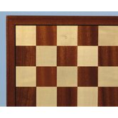 "17"" Sapele and Maple Veneer Chess Board"