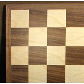 "17"" Walnut / Maple Veneer Chess Board"