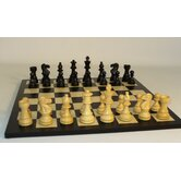 Black Lardy Classic on Black / Maple Chess Board