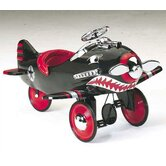 Shark Attack Pedal Plane in Black