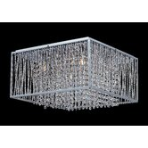 Zenith 5 Light Crystal Chandelier