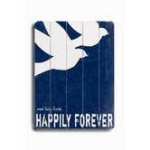 "Happily Forever Wood Sign - 12"" x 9"""