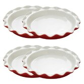 5&quot; Rose's Mini Quiche Pan in Red - Set of 4