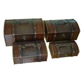 &quot;Classic&quot; Leather Trunk, Designer Treasure Chest