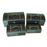 &quot;Royal&quot; Leather Trunk, Designer Treasure Chest