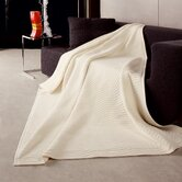 New Wave Woven Throw Blanket in Ivory